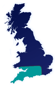 Image of areas covered in the UK