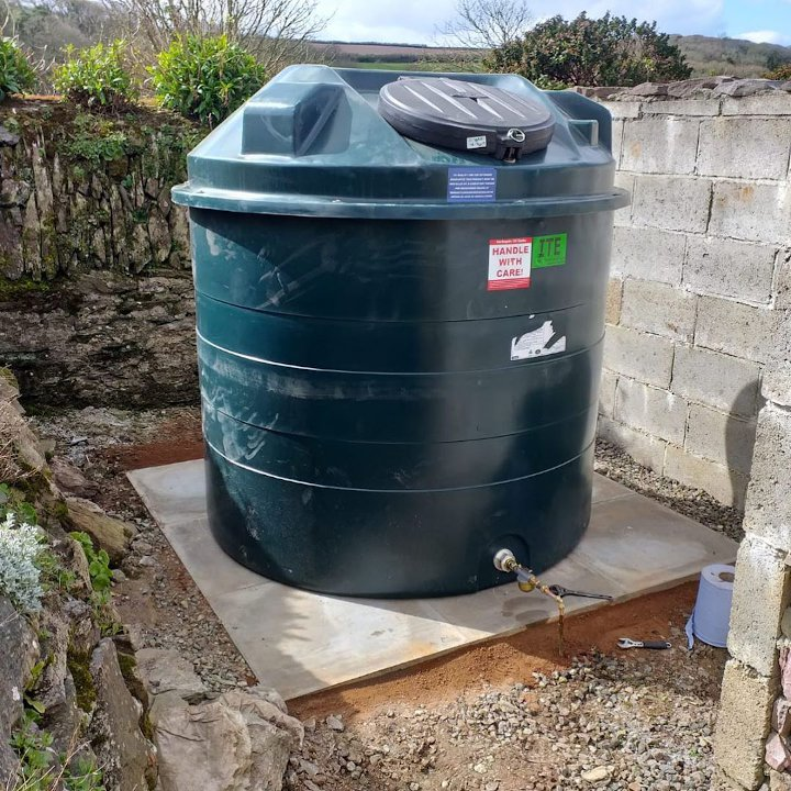 Emergency oil tank removal and install